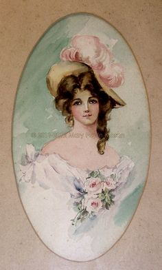 This beautiful lady graced the halls of Moran Place. Turn of the century art.