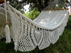 White Queen Hammock 21 with special side embroidery by HamacArt