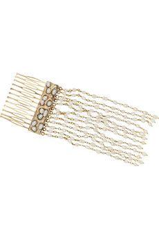 ROSANTICA Piccola gold-plated freshwater pearl hair slide