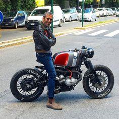 Vintage Cafe Racer & Bobber Custom BMW motorbikes by Ottodrom - Motorrad Bmw Cafe Racer, Moto Cafe, Cafe Racer Style, Cafe Bike, Custom Cafe Racer, Best Motorbike, Cafe Racer Motorcycle, Motorcycle Design, Bmw R 100 Rs