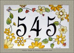 Rabisco Ateliê : NÚMERO DE CASA Arte Country, Woodworking Projects Diy, House Numbers, Metal Crafts, Home Signs, Home Projects, Pottery, Crafty, Art Prints