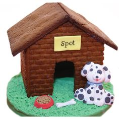 A dog gingerbread house
