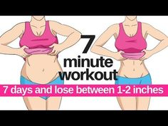 7 Day Challenge – 7 Minute Workout To Lose Belly Fat – Home Workout To Lose Inches Fat Burning Cardio Workout, Cardio Workout At Home, Belly Fat Workout, At Home Workouts, 7 Min Workout, Exercise Cardio, Beginner Exercise, Tummy Workout, Exercise Routines