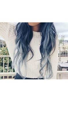 Check Out Our , 20 Pastel Blue Hair Color Ideas You Will Love In 20 Pastel Blue Hair Color Ideas You Have to Try, 79 Dark Blue Hair Color for Ombre Teal Hair & Beauty. Midnight Blue Hair, Dark Blue Hair, Blue Ombre Hair, Blue Hair Colors, Color Blue, Blue Grey, Twisted Hair, Coloured Hair, Dye My Hair