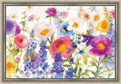 Summer Meadow Framed Painting Print