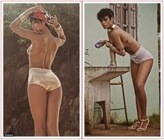 "Photo: Rihanna goes ""Topless"" in Vogue Brazil cover photo shoot"