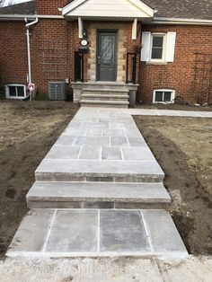 Fantastic natural stone design finished by our mason. Driveway Sealing, Pool Coping, Richmond Hill, Flagstone, Pool Landscaping, Natural Stones, Stone Walkways, Sidewalk, Woodworking