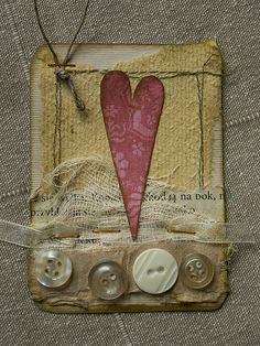 ATC_red heart | for Niunau | kasiorka_na_flickrze | Flickr