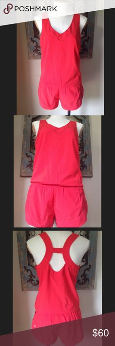 Never worn Lululemon romper Body is 86% polyester sand 14% spandex. Contrast is 89% polyester and 11% Lycra/spandex. Smoke free and pet free home. Bundle your order and save 20%!! lululemon athletica Other