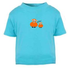 """Ages 0 - 7 YEARS This design is also available as HOODIES, POLO SHIRTS, BODY VEST, ROMPERS, SLEEP SUITS and MORE.....  """"Baa!"""" Orange Sheep Is a 100% exclusive to The Little Baby Boutique. We designed and produced this artwork, therefore you are guaranteed a product that is as unique as your little ones personality.Also Available in other colours. #www.TheLittleBabyBoutique.com #KidsTees #BabyTees #KidsTshirts #BabyTshirts #Kidsfashion"""