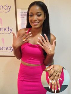 "Keke Palmer dishes about her favorite nail trends, the first manicure she ever got and reveals what celebrity she would love to have on her BET talk show, ""Just Keke."""