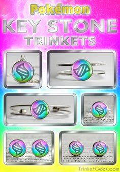 Key Stone trinkets from Pokemon X & Y and Pokemon ORAS! :D #Pokemon #ORAS #PokemonJewellery