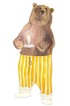 Bearly See You Print by Mr Peebles