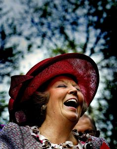 Queen Beatrix. What a great smile.