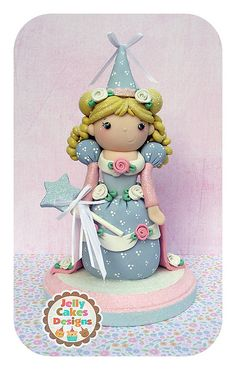 The Fairy Princess keepsake cake topper by Jelly Cakes Designs
