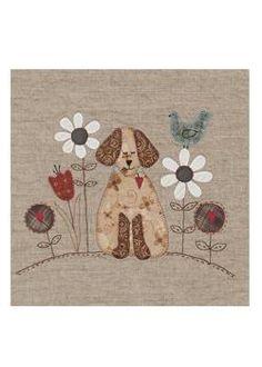 Projeto Lynette Anderson - Bloco do Mês - A Dog's Life (4 blocos) - Projetos « True Friends | Quilt | Patchwork | Patchcolagem | Tecidos Importados