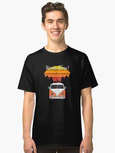 T-shirt «Camper Van Road Trip VW - Allons-y - Cadeau parfait adea pour Van Trip Lovers animaux coucher de soleil été Nature», par MagicDesigner | Redbubble