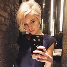 80 Bob Hairstyles To Give You All The Short Hair Inspiration - Hairstyles Trends Short Hair Styles Easy, Short Hair Updo, Short Hair Cuts, Medium Hair Styles, Long Pixie Cuts, Curly Hair, Sassy Hair, Short Blonde, Platinum Blonde Pixie