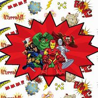 Marvel Superheroe Squad: Free Printable Candy Bar Labels.