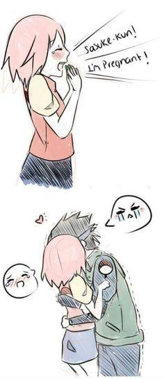 Kyaaaaa!! So cute! Sasusaku                                                                                                                                                      More