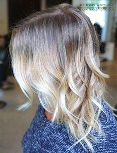 Wavy Balyage Ombre Short Hair