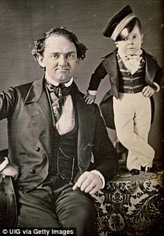 Huckster: P.T. Barnum and his 'pocket general' circa 1850 General Tom Thumb, Barnum Bailey Circus, Pt Barnum Circus, Circus Circus, Big Top Circus, Human Oddities, Circus Performers, Today In History, The Greatest Showman
