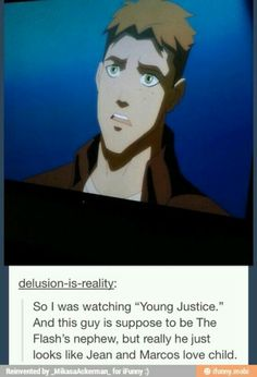 Attack on Titan / Young Justice  ~~ If Jean and Marco had a kid...