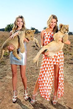 Models Jennifer Hawkins, Jess Hart and Chris Smith have travelled to the wilds of Africa to shoot photos for Myer's Spring/Summer collection.