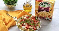 Recette - Couscous en perles au pesto de roquette en vidéo Dressings, Potato Salad, Salsa, Dips, Food And Drink, Potatoes, Chicken, Ethnic Recipes, Chopped Salads