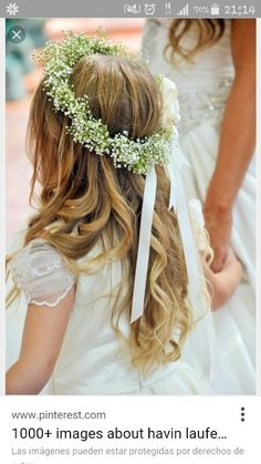 La Caille Wedding by Pepper Nix Photography Bridal Flowers, Flowers In Hair, Flower Hair, Flower Girl Crown, Flower Girl Dresses, Flower Girl Headpiece, Flower Girl Hairstyles, Wedding Hairstyles, Communion Hairstyles