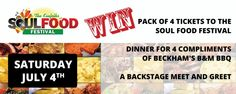 Win a Soul Food Festival Prize Pack. Soul Food Festival takes place 7/4 at Berea Fairgrounds. Get tickets here  http://bit.ly/1EOt7qC