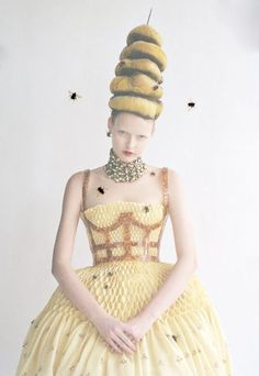 Elza Luijendijk + Alexander McQueen. Photo: Tim Walker for Vogue US ('High and Mighty'), March 2013.