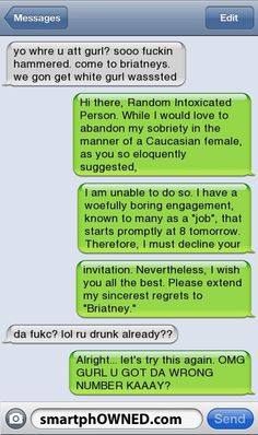 Drunk text message… owned!  http://endofinternet.ro