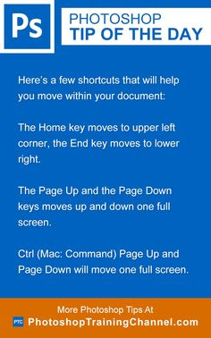 Here's a few shortcuts that will help you move within your document:The Home key…