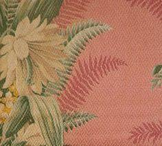 barkcloth tropical | Vintage Pink Barkcloth Tropical Drapes 92 Long Pair Perfect Fabric for ...