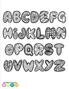 Printable Doodle Alphabet - Printable Alphabet Coloring Sheet