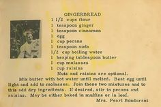 Roots From The Bayou: Family Recipe Friday - Gingerbread #genealogy #familyhistory