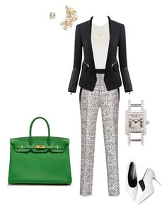 """""""#298"""" by snows22 on Polyvore featuring moda, Kenneth Jay Lane, Topshop, BaubleBar, Roland Mouret, Alexander Wang, Hermès e Cartier"""