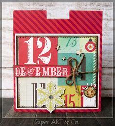 Weihnachtskarte von Mary-Jane für www. Mistletoe, Creative Ideas, Advent Calendar, Paper Art, December, Valentines, Magic, Eye, Holiday Decor