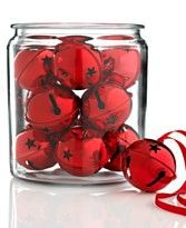 Love the jingle bells! I would put them in a white bowl on my red coffee table tray.