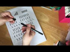 Letter Forms Using a Calligraphy Pen {#LoveYourLettering} - CreativLEI