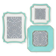 Virginia Frame - Aquamarine - I would redo an entire room in my house just to make these frames work! LOVE!!!! aquamarine & gray are my new favorite colors