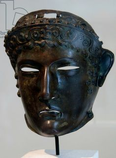 Roman Art. 2nd century. Bronze mask used by Roman soldiers during training. 2nd century. Metropolitan Museum of Art. New York. United States.