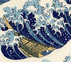 Détail de la vague d'Hokusai