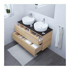 Awesome GODMORGON/TOLKEN / TÖRNVIKEN Meuble Lavabo Av Lavabo à Poser 45, Brillant  Blanc, Bambou Design