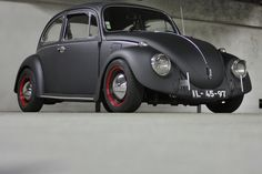 VW Beatle - Matte Black.  I would build one just. Like this for a winter driver.