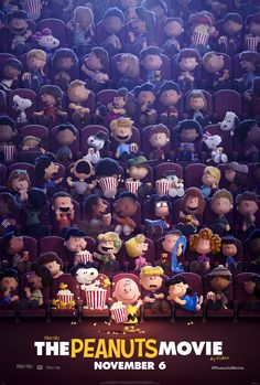 peanuts exclusive poster.  Hey man!  Its the Peanuts movie!  Its computer animated not cell animation, but oh well.  I used to watch the Charlie Brown and Snoopy Show everyday after school in middle school, and checked out the comic strip books from the library in the summer.  Super pumped for this film!