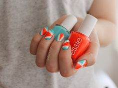Spektor's Nails: Neon Triangles