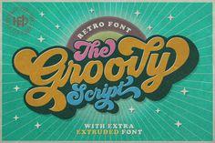 Groovy - Retro Font • Available here → https://creativemarket.com/hptypework/2310805-Groovy-Retro-Font?u=pxcr