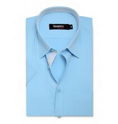 Blue With Self Stripe Dress Shirt